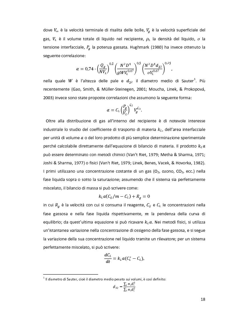 Anteprima della tesi: Modellazione e simulazione di dispersioni gas-liquido in recipienti agitati mediante tecniche di fluidodinamica numerica, Pagina 14