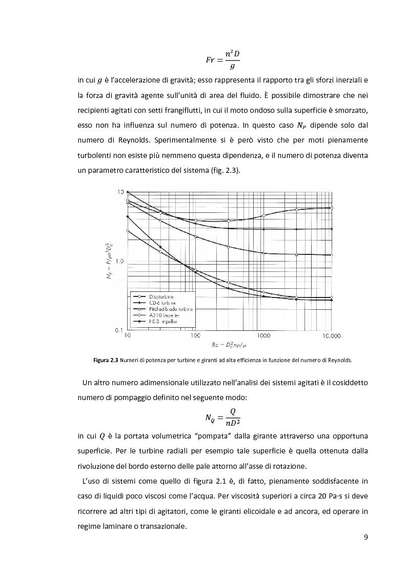 Anteprima della tesi: Modellazione e simulazione di dispersioni gas-liquido in recipienti agitati mediante tecniche di fluidodinamica numerica, Pagina 5
