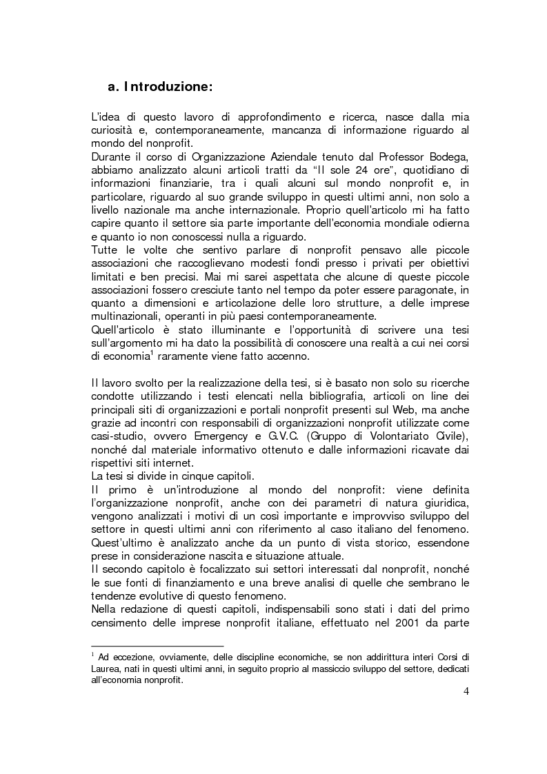 Anteprima della tesi: Sviluppo internazionale delle organizzazioni nonprofit, Pagina 1