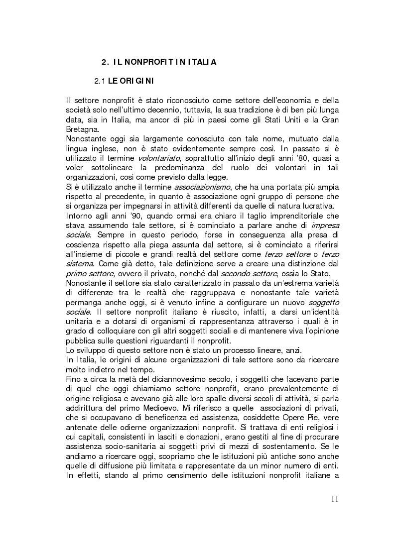 Anteprima della tesi: Sviluppo internazionale delle organizzazioni nonprofit, Pagina 8