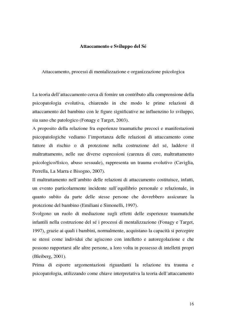 Anteprima della tesi: Lo sviluppo precoce dei disturbi di personalità nei bambini abusati, Pagina 10