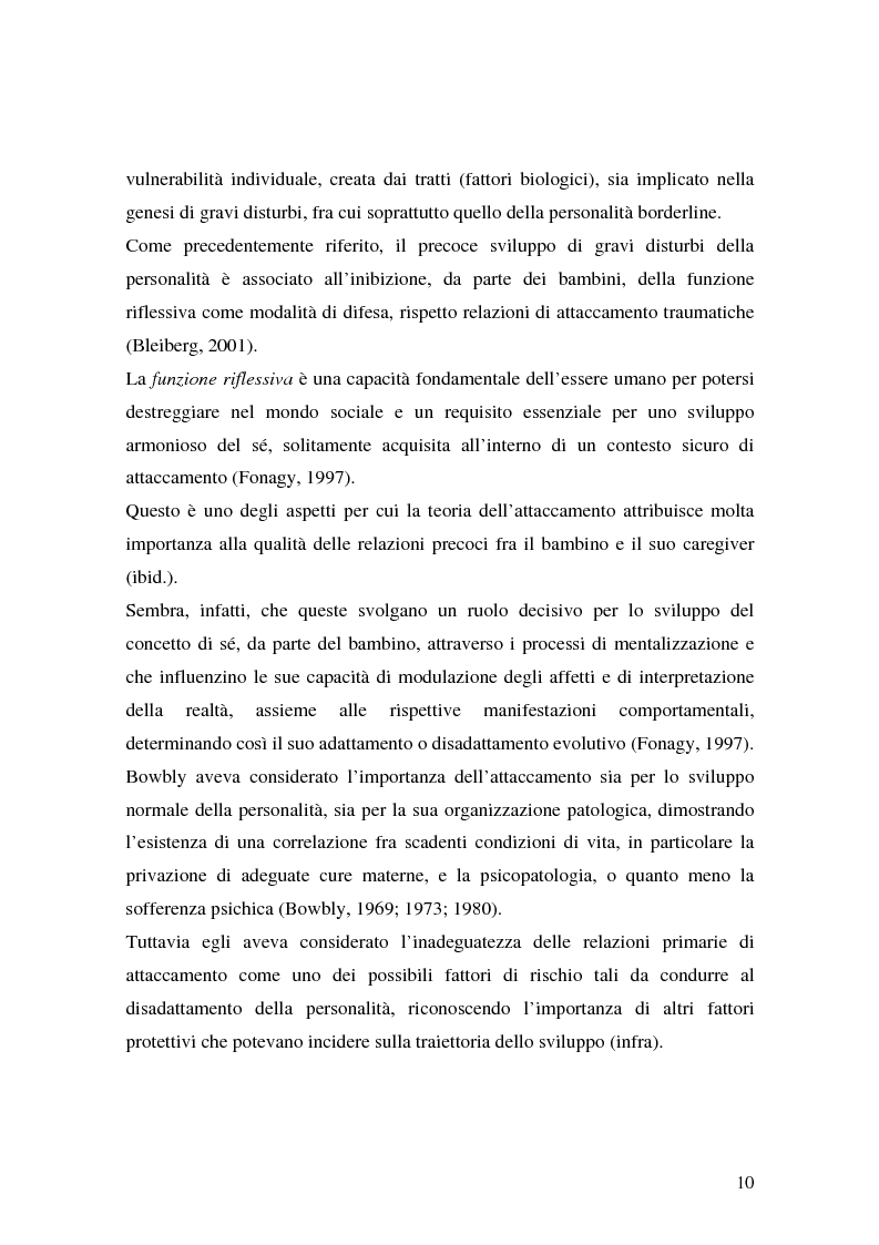 Anteprima della tesi: Lo sviluppo precoce dei disturbi di personalità nei bambini abusati, Pagina 4