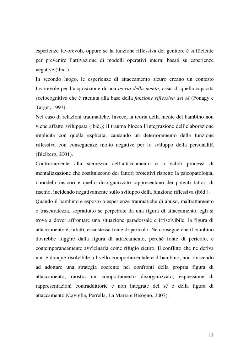 Anteprima della tesi: Lo sviluppo precoce dei disturbi di personalità nei bambini abusati, Pagina 7