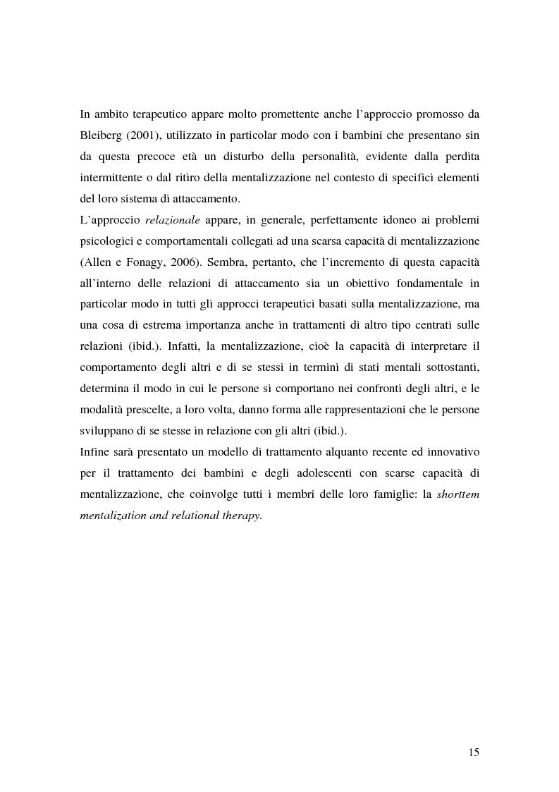 Anteprima della tesi: Lo sviluppo precoce dei disturbi di personalità nei bambini abusati, Pagina 9