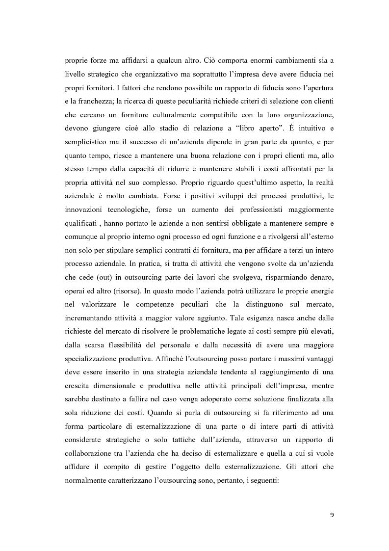 Anteprima della tesi: La formazione: un servizio outsourcing, Pagina 8