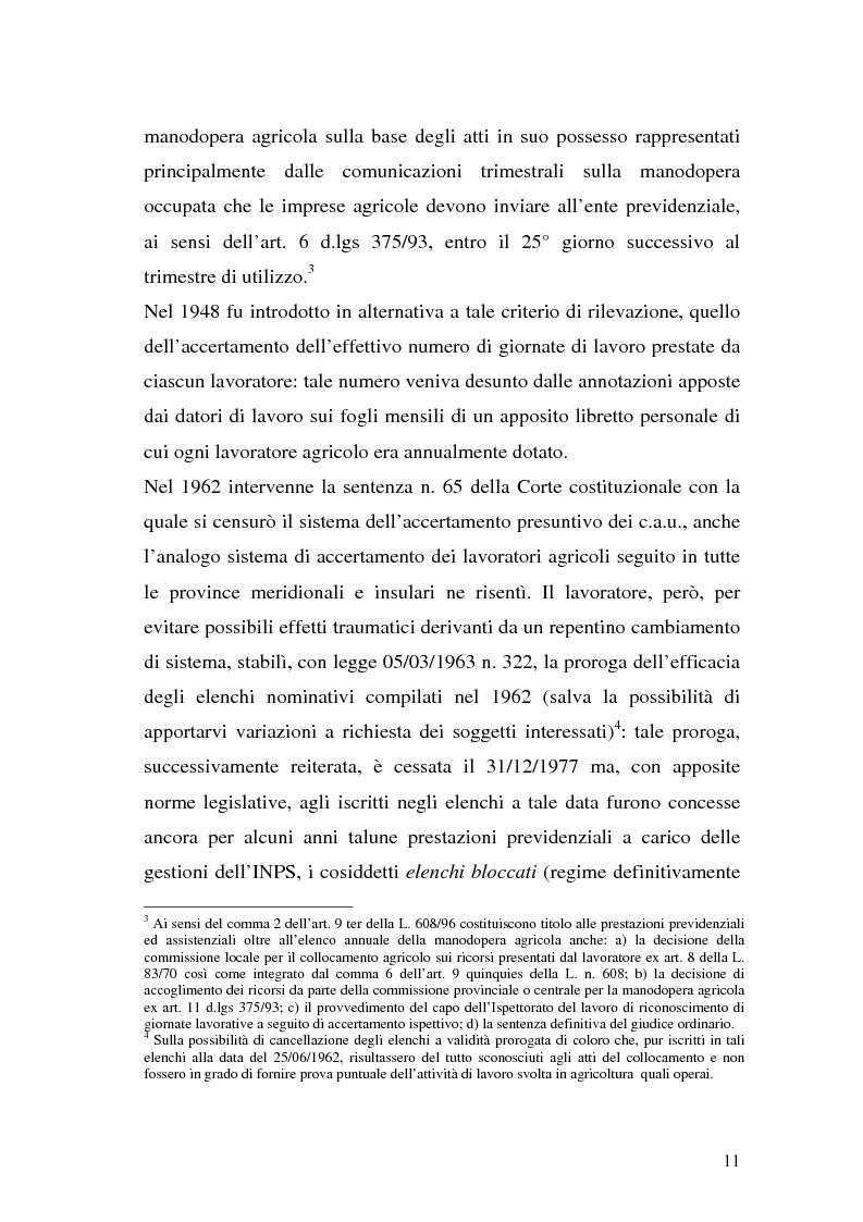 Anteprima della tesi: La disciplina previdenziale nel settore agricolo: gli operai agricoli a tempo determinato, Pagina 11