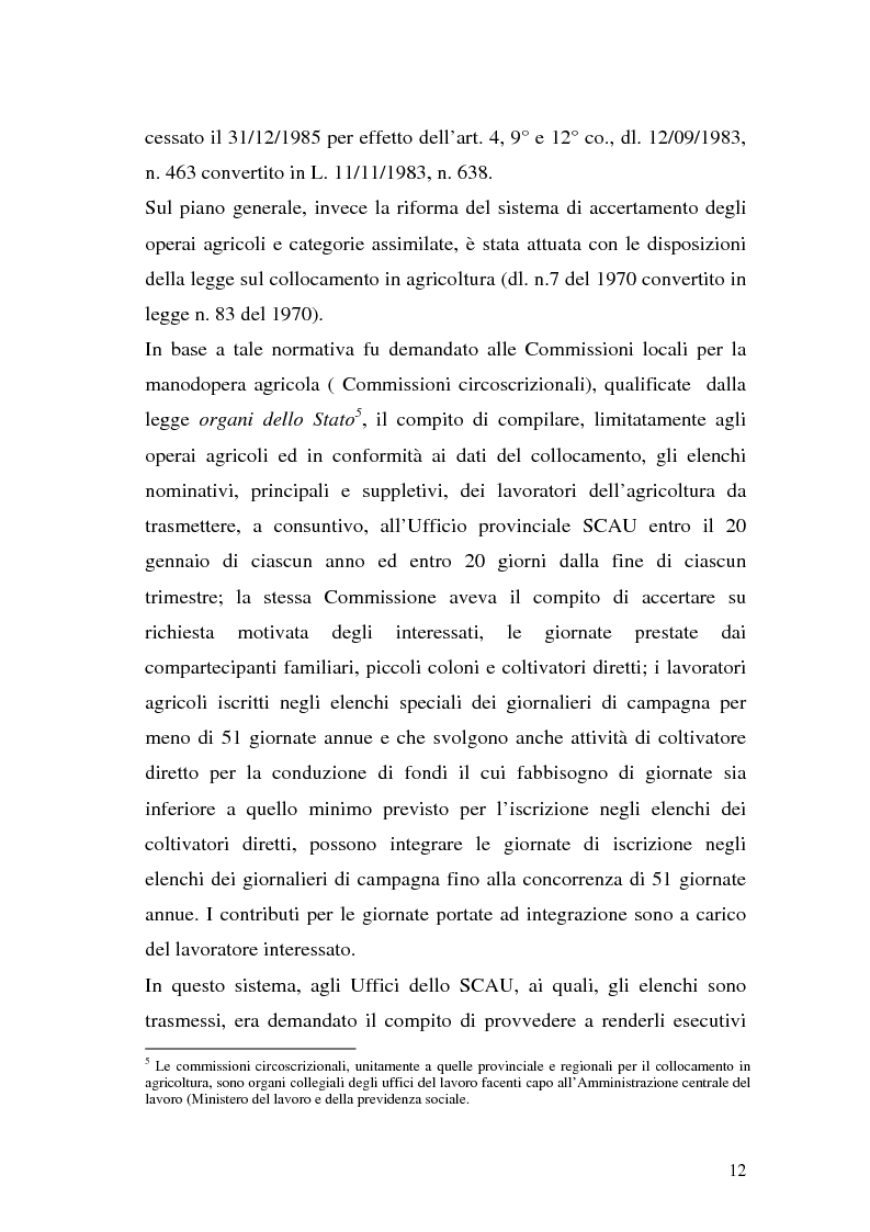 Anteprima della tesi: La disciplina previdenziale nel settore agricolo: gli operai agricoli a tempo determinato, Pagina 12