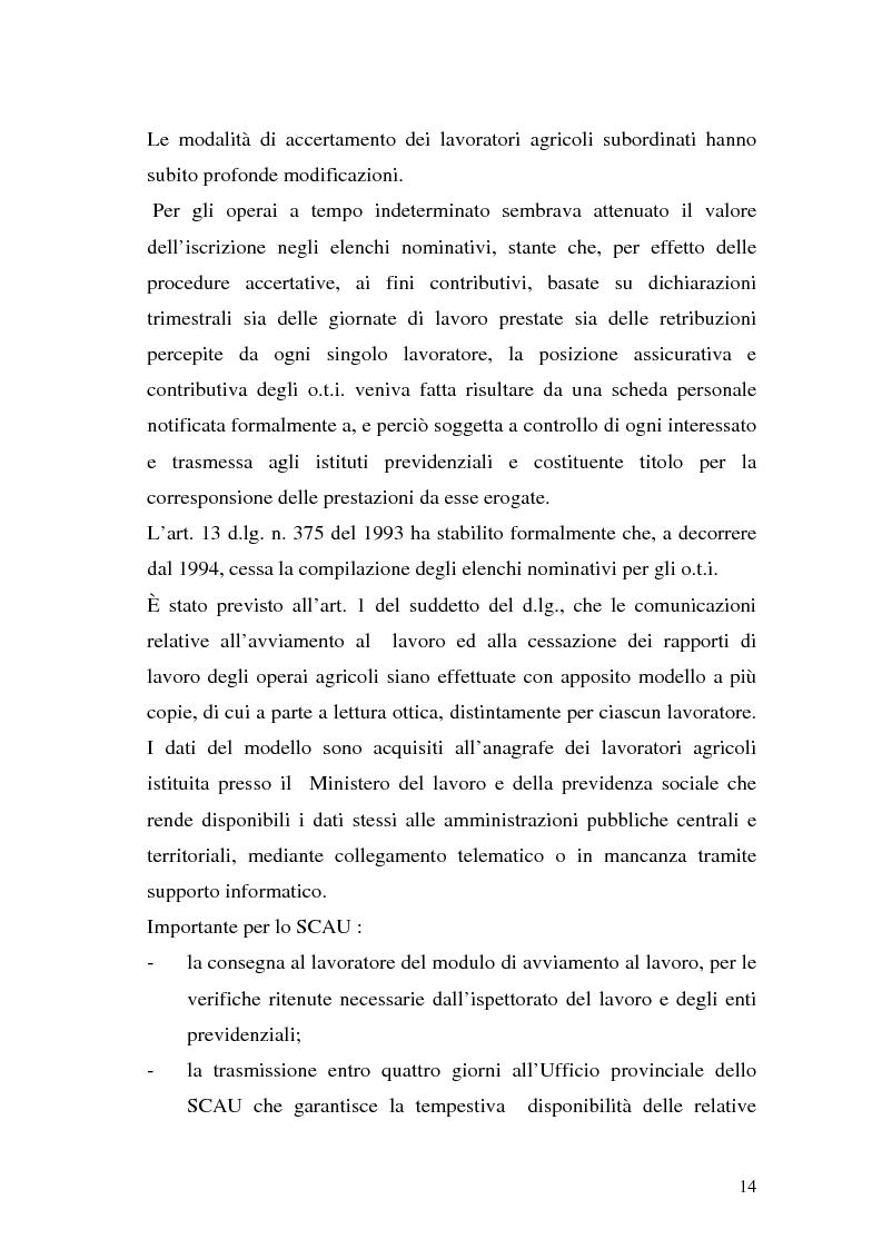 Anteprima della tesi: La disciplina previdenziale nel settore agricolo: gli operai agricoli a tempo determinato, Pagina 14