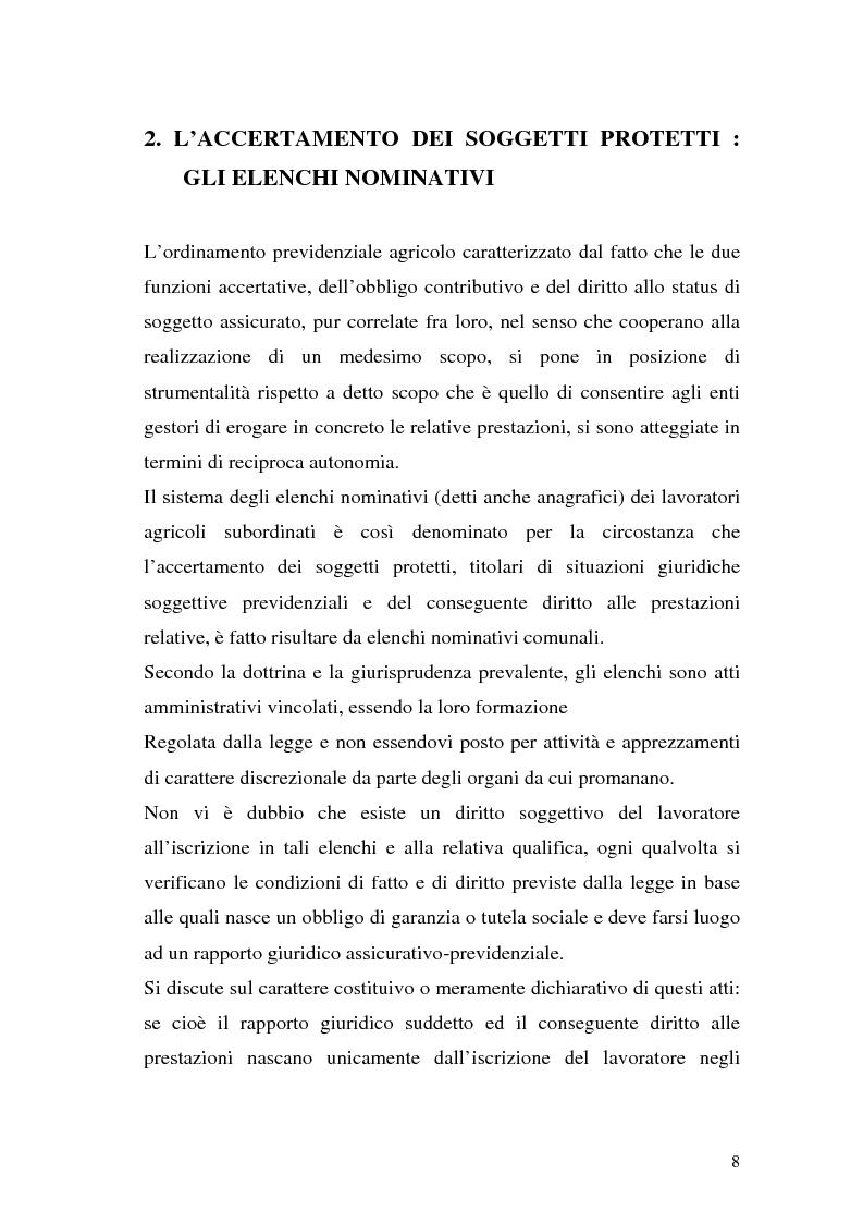 Anteprima della tesi: La disciplina previdenziale nel settore agricolo: gli operai agricoli a tempo determinato, Pagina 8