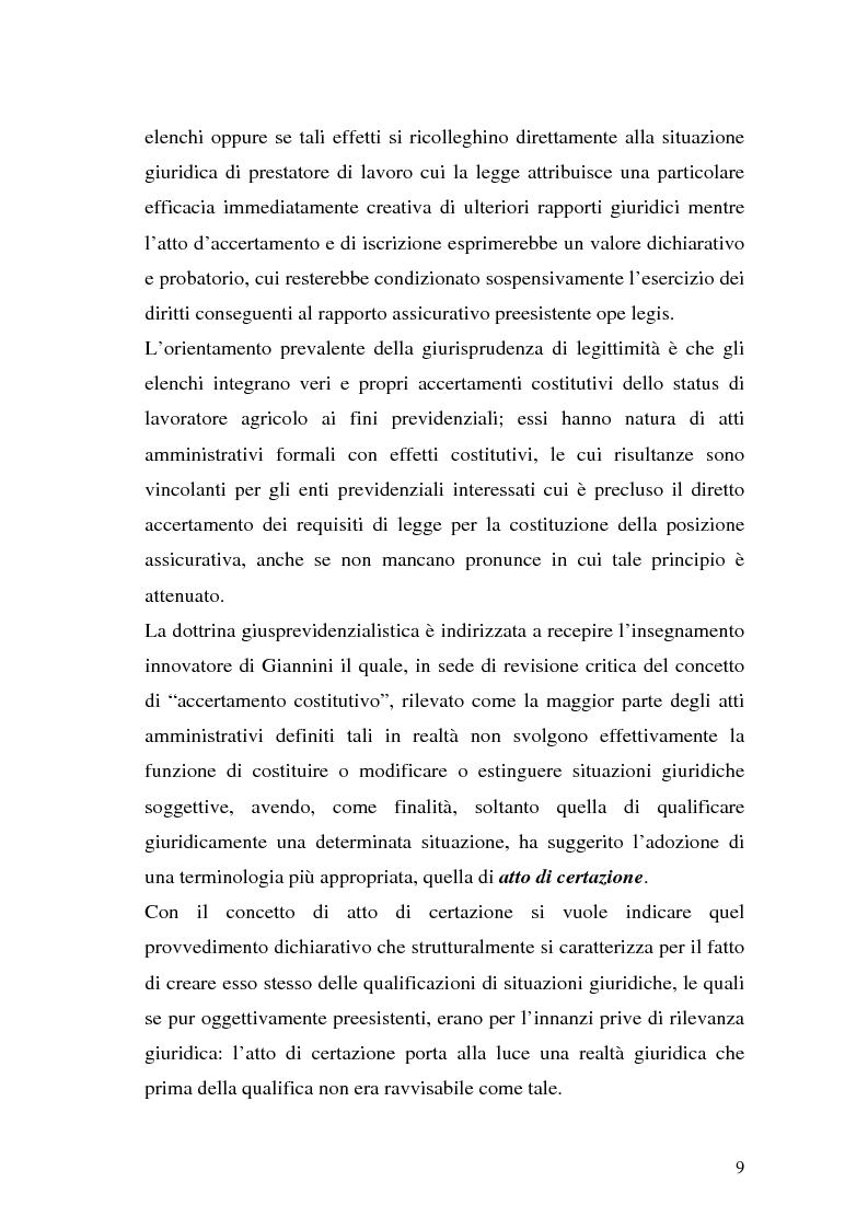 Anteprima della tesi: La disciplina previdenziale nel settore agricolo: gli operai agricoli a tempo determinato, Pagina 9