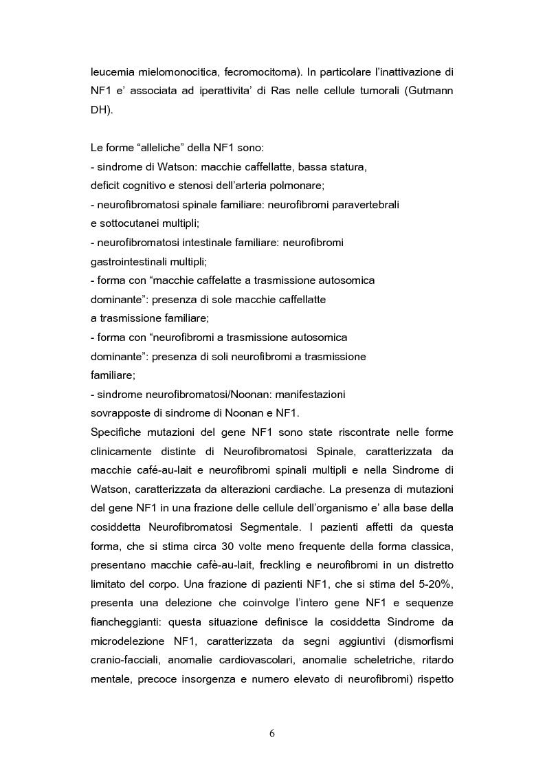 Anteprima della tesi: Diagnosi precoce dei danni uditivi nei pazienti affetti da Neurofibromatosi di tipo II, Pagina 5