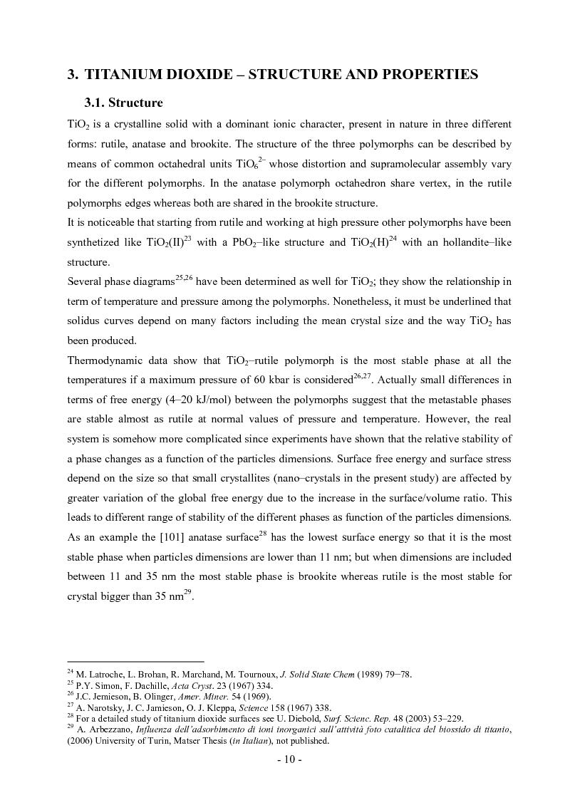 Anteprima della tesi: S,N co-doped nanocrystalline TiO2. Synthesis, Characterizations and Photocatalytic Activity., Pagina 6