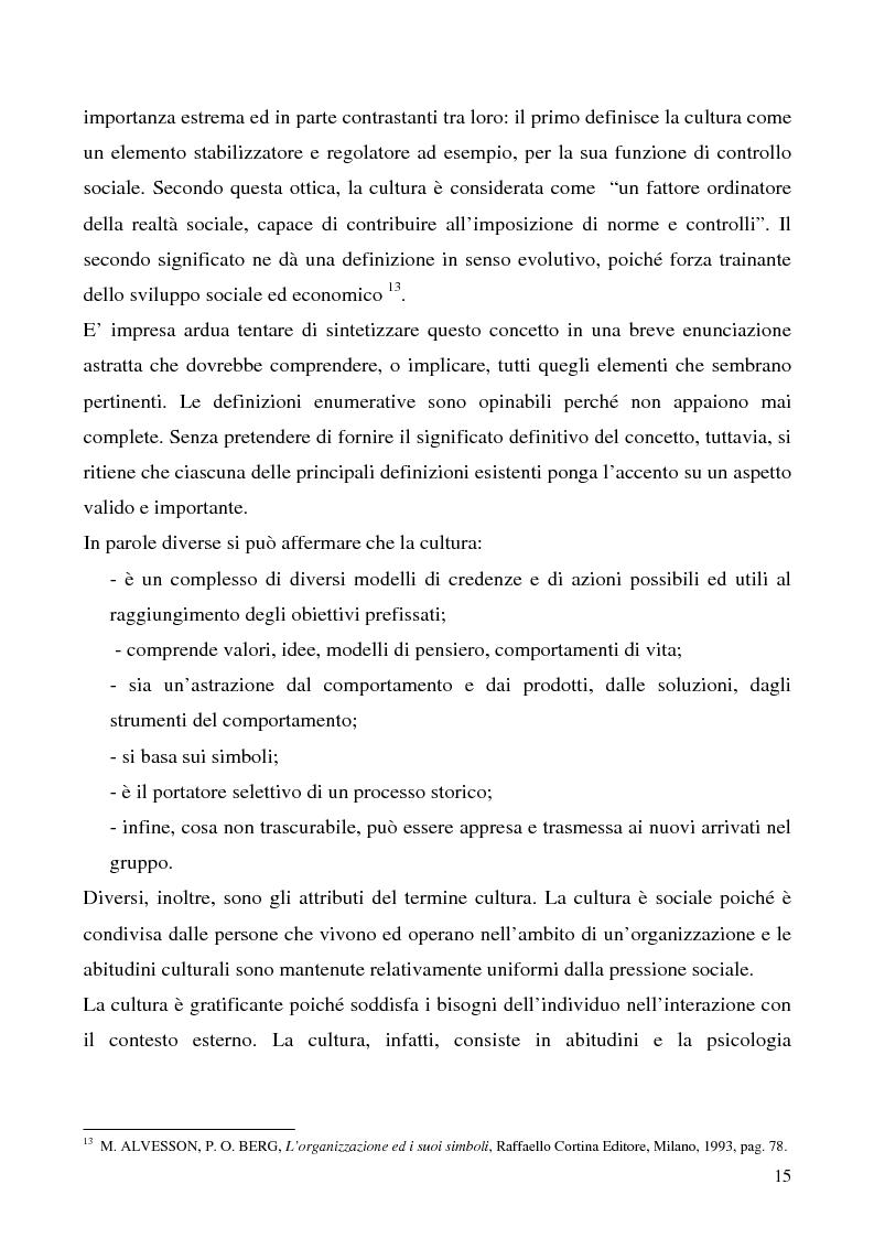 Anteprima della tesi: Lo studio della cultura organizzativa, Pagina 10