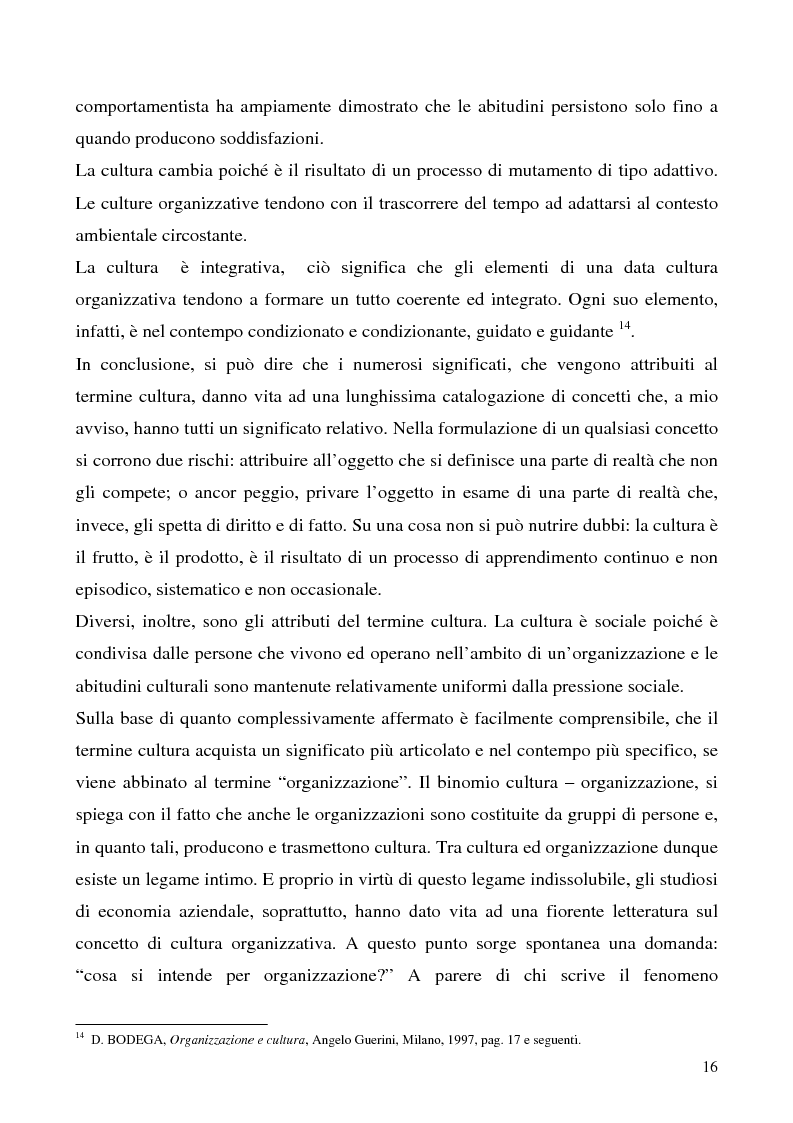 Anteprima della tesi: Lo studio della cultura organizzativa, Pagina 11