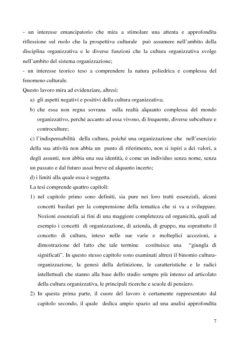 Anteprima della tesi: Lo studio della cultura organizzativa, Pagina 2