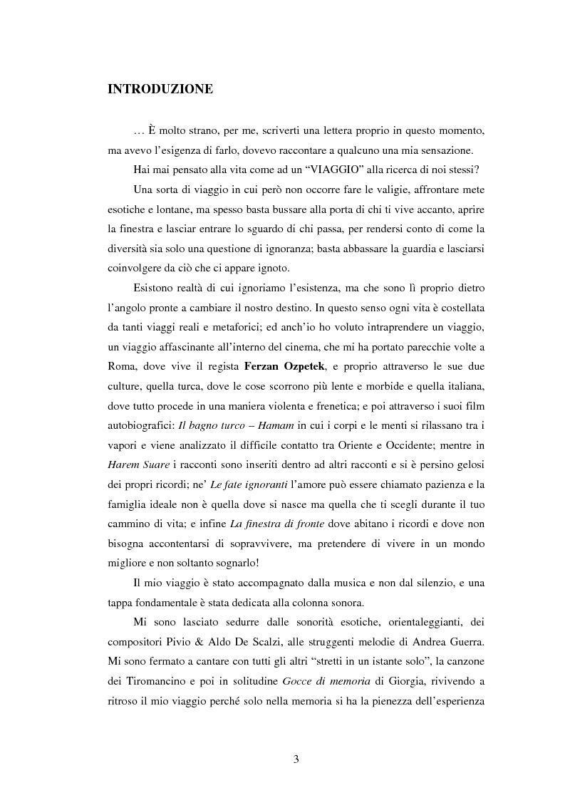 Anteprima della tesi: Il viaggio di Ferzan Ozpetek, Pagina 1