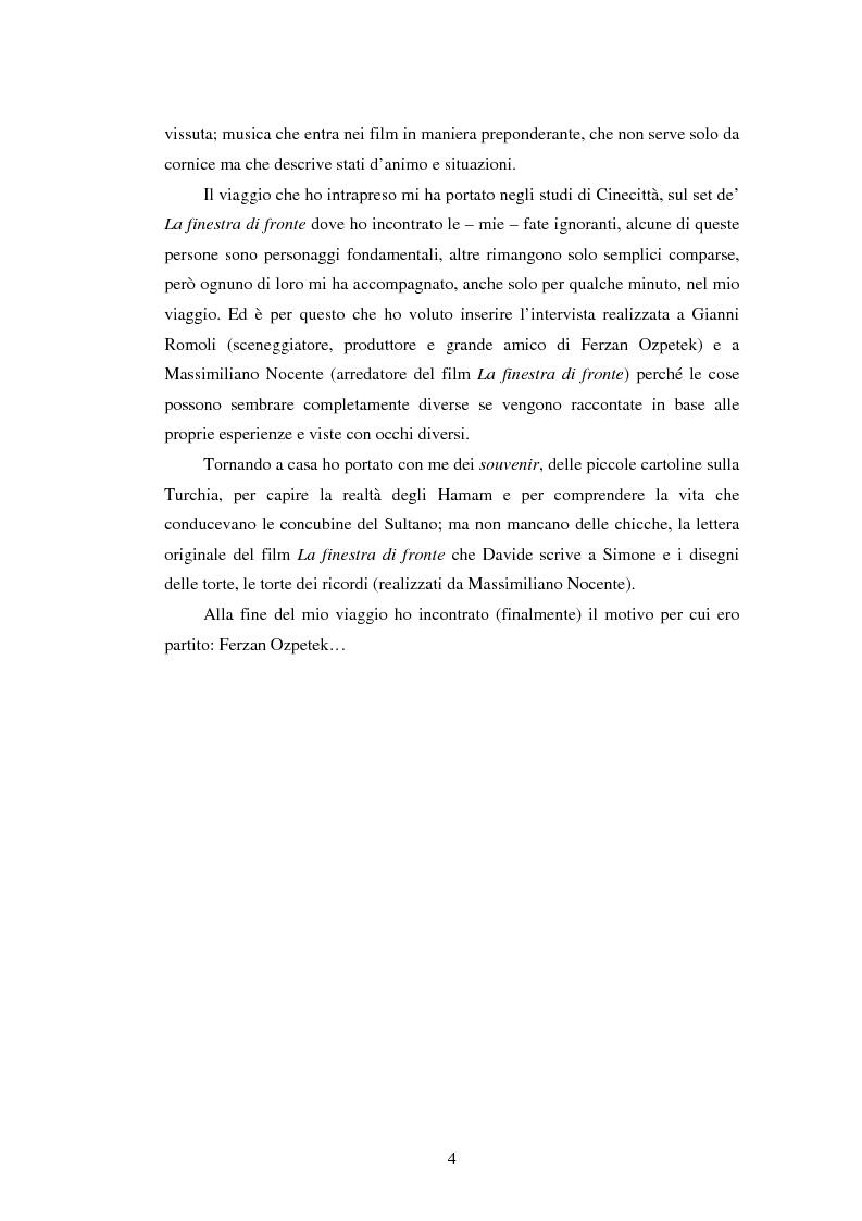 Anteprima della tesi: Il viaggio di Ferzan Ozpetek, Pagina 2