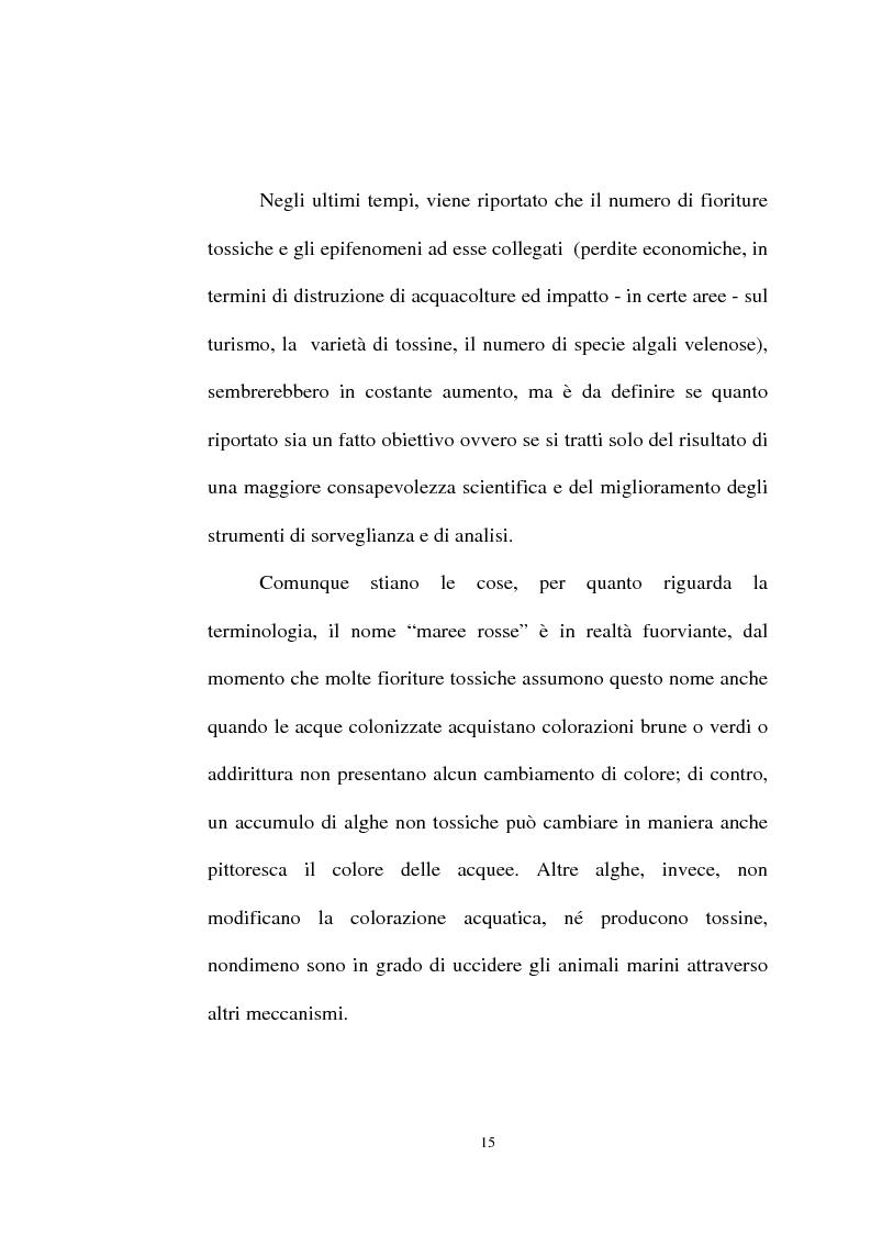 Anteprima della tesi: Intossicazioni da tossine marine. Quattro casi di sindrome da ciguatera, Pagina 15