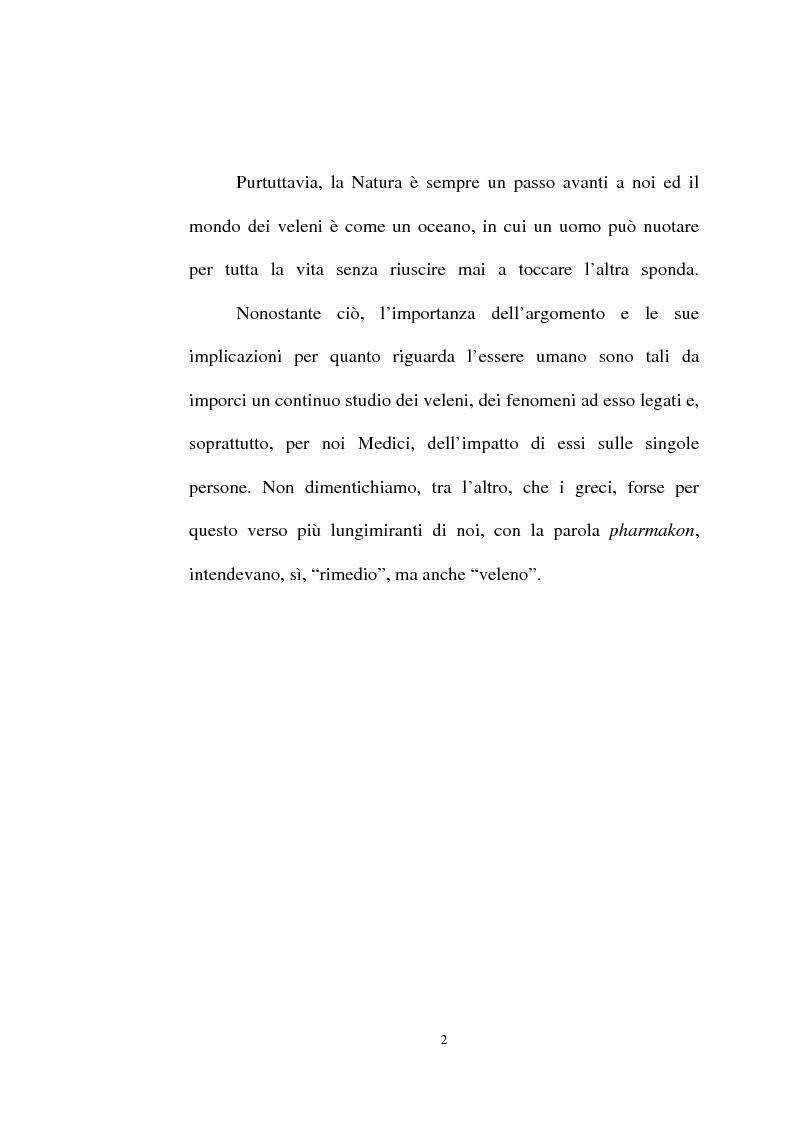 Anteprima della tesi: Intossicazioni da tossine marine. Quattro casi di sindrome da ciguatera, Pagina 2