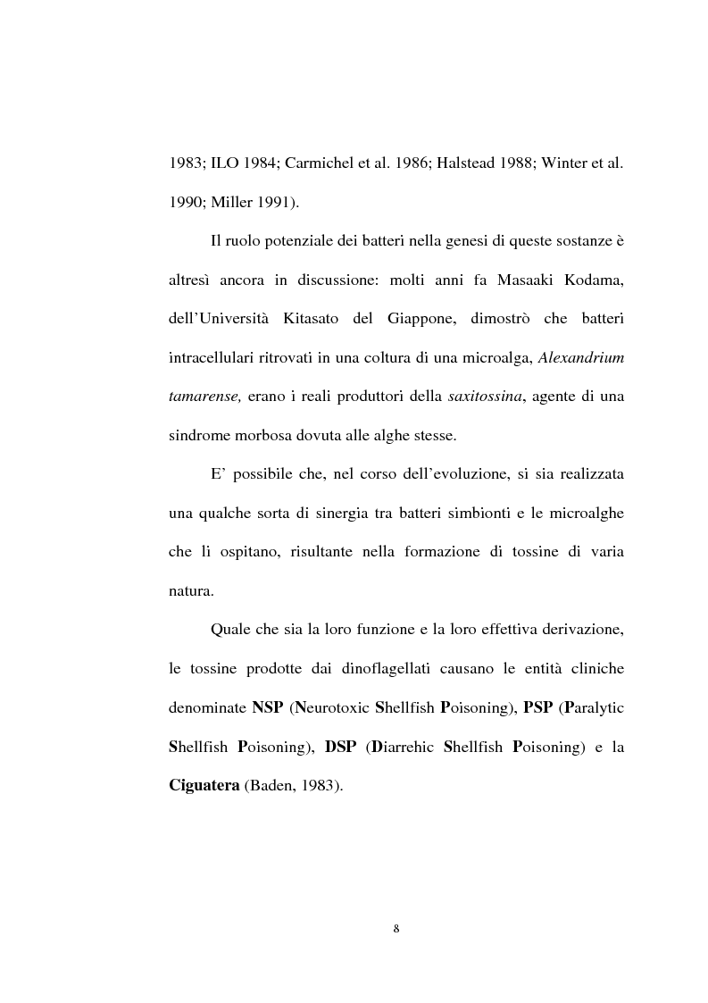 Anteprima della tesi: Intossicazioni da tossine marine. Quattro casi di sindrome da ciguatera, Pagina 8