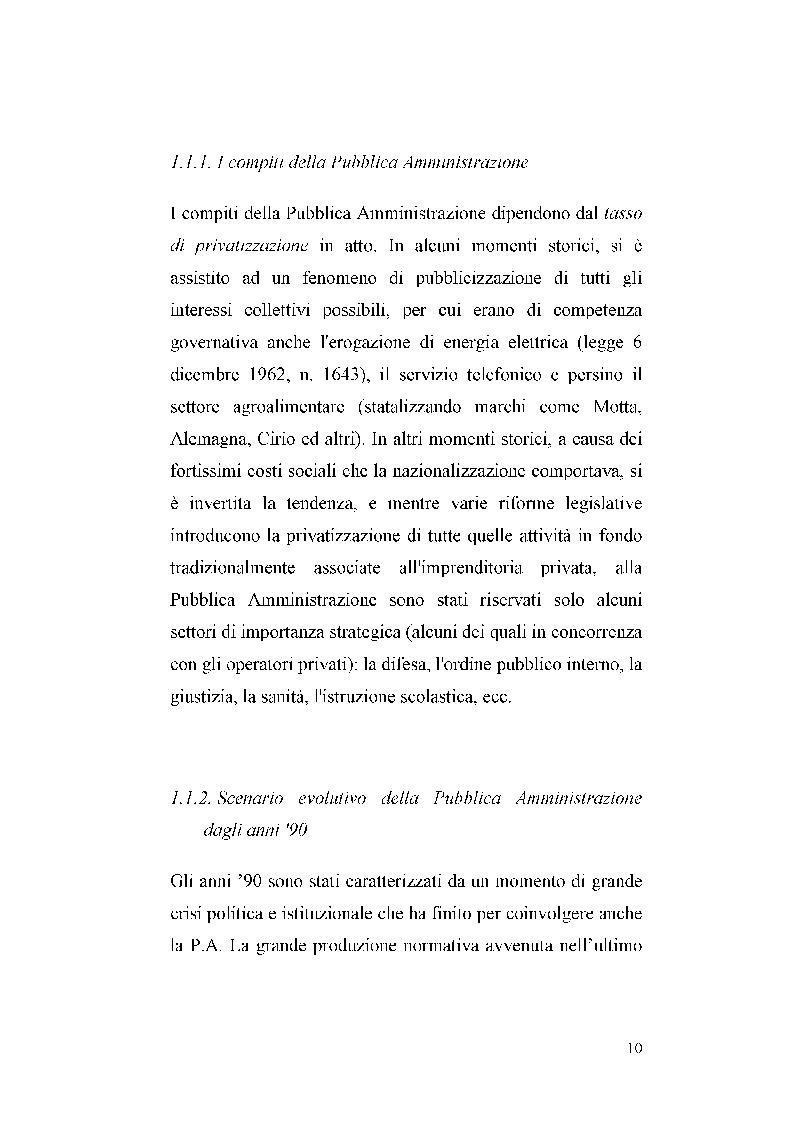 Anteprima della tesi: I sistemi di valutazione delle prestazioni nella P.A., Pagina 4