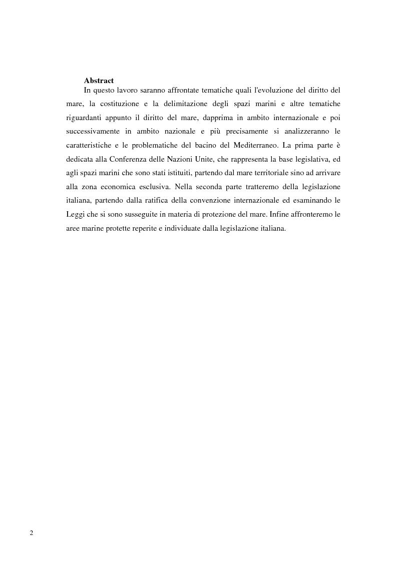 Anteprima della tesi: Il Mare Nostrum: da Montego Bay ai parchi marini, Pagina 1