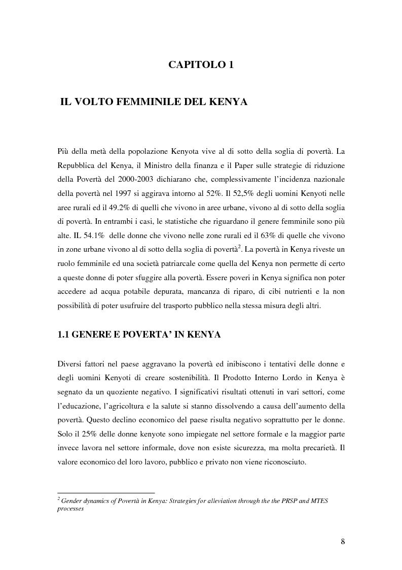 Anteprima della tesi: Donne e microcredito: due strategie di sviluppo in Kenya, Pagina 4