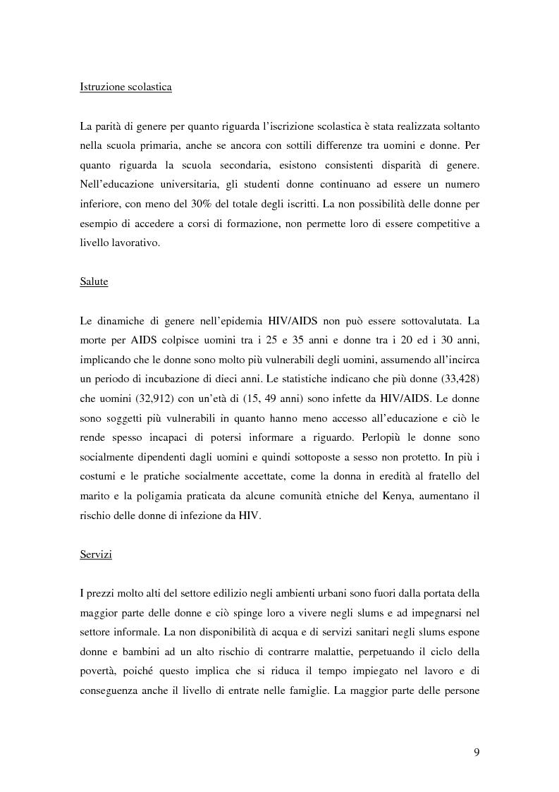Anteprima della tesi: Donne e microcredito: due strategie di sviluppo in Kenya, Pagina 5