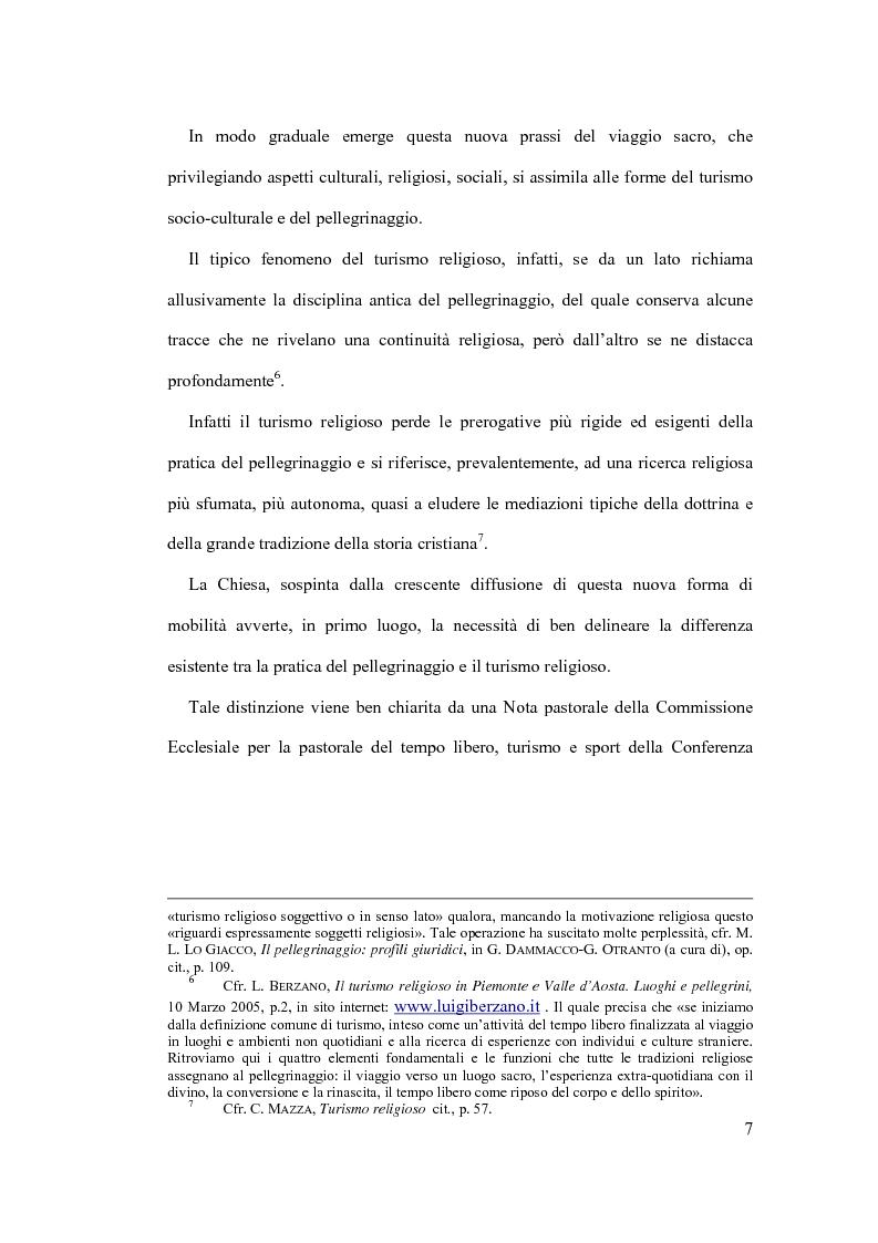 Anteprima della tesi: Il diritto al turismo religioso nell'ordinamento internazionale e comunitario, Pagina 3