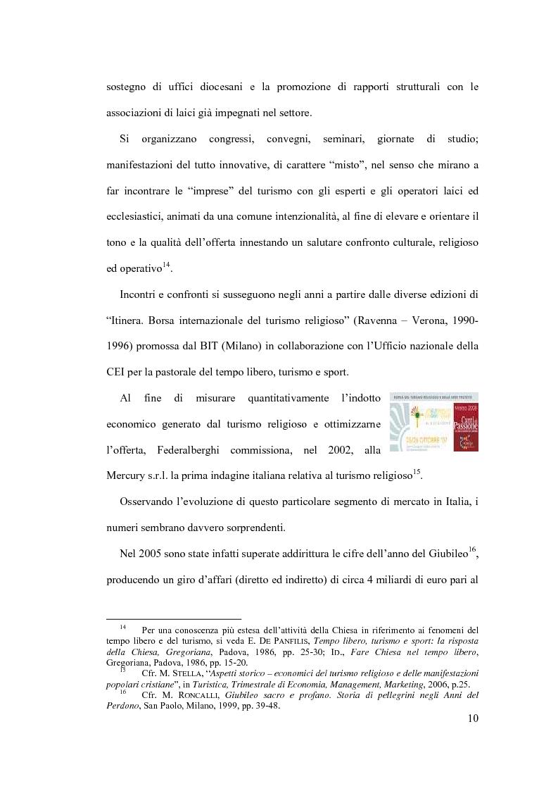 Anteprima della tesi: Il diritto al turismo religioso nell'ordinamento internazionale e comunitario, Pagina 6