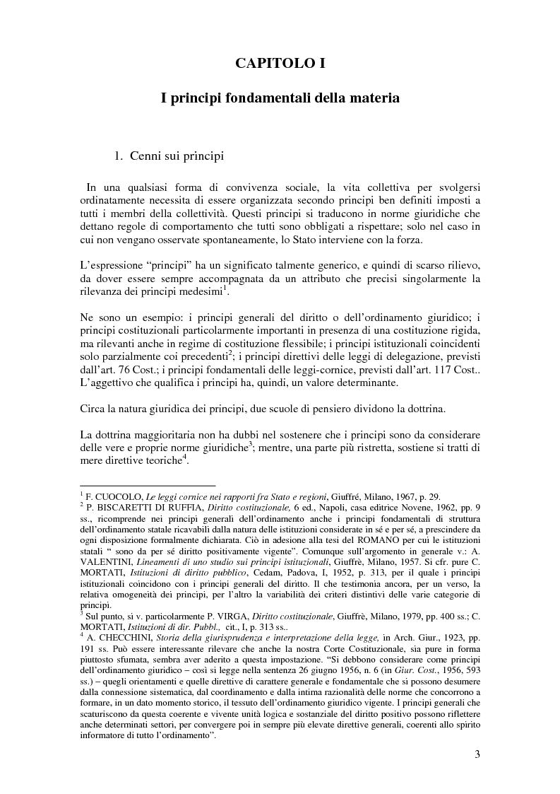 Anteprima della tesi: Delega alla ''mera ricognizione'' dei principi fondamentali, Pagina 3
