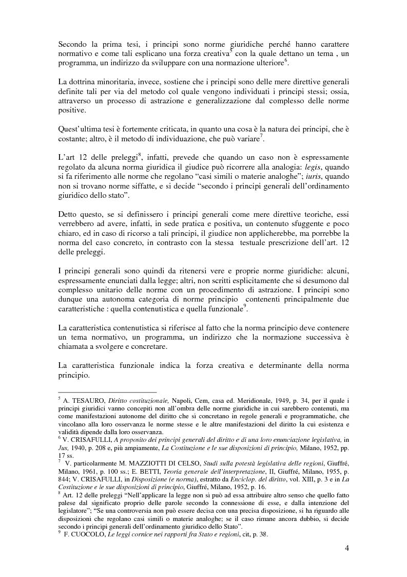 Anteprima della tesi: Delega alla ''mera ricognizione'' dei principi fondamentali, Pagina 4