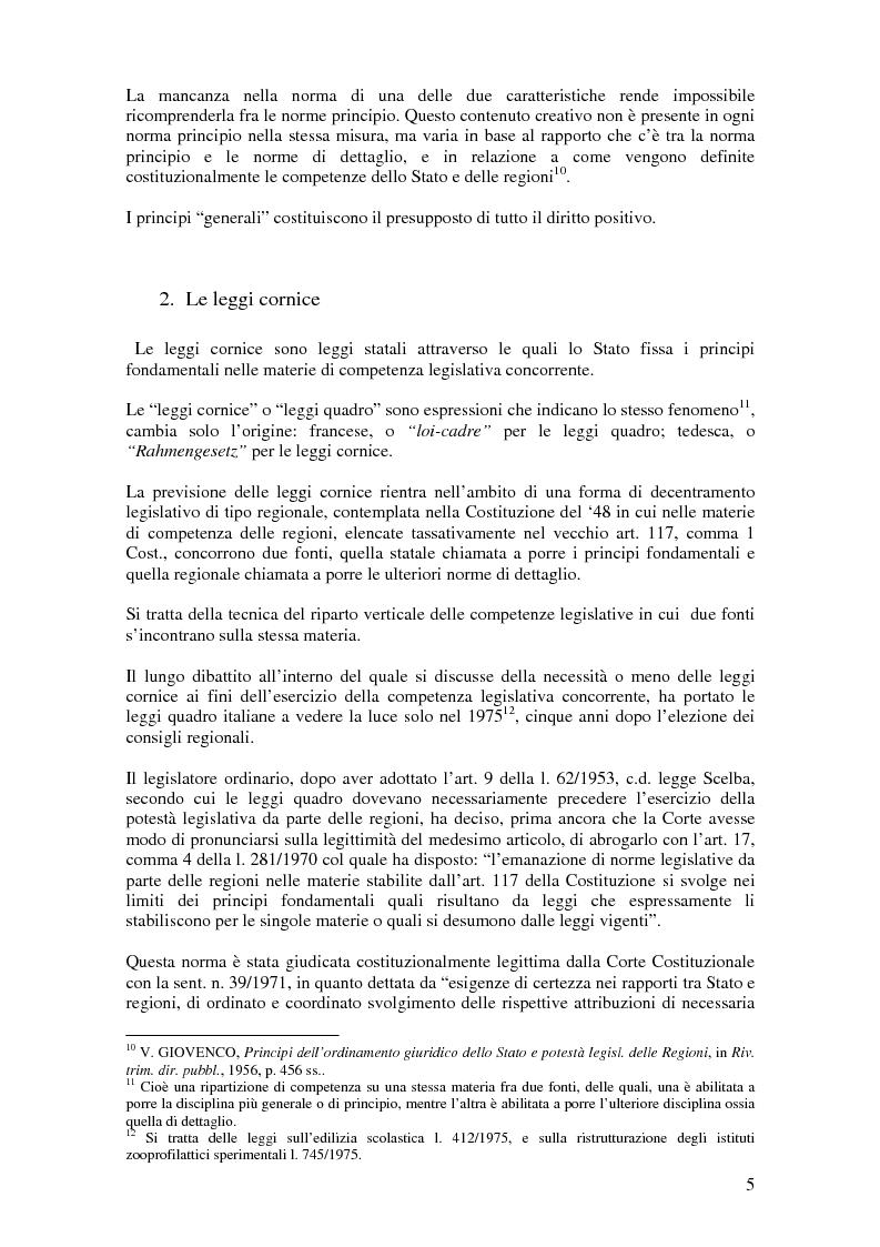 Anteprima della tesi: Delega alla ''mera ricognizione'' dei principi fondamentali, Pagina 5