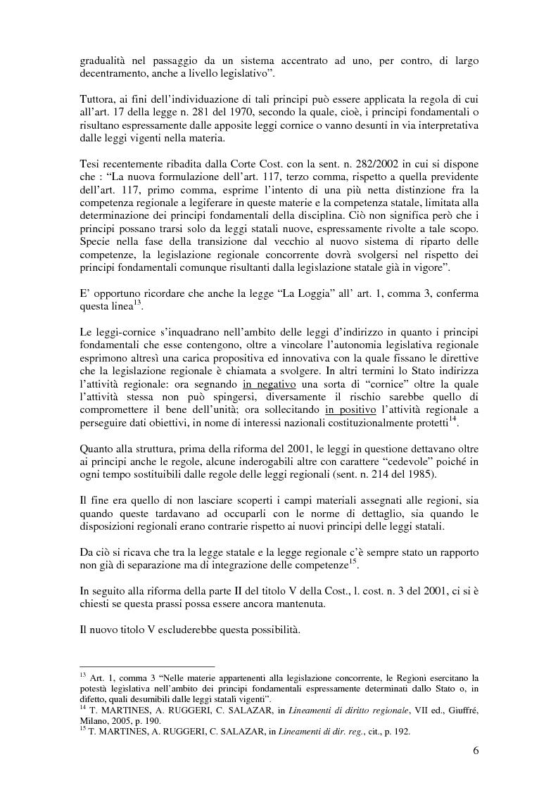 Anteprima della tesi: Delega alla ''mera ricognizione'' dei principi fondamentali, Pagina 6