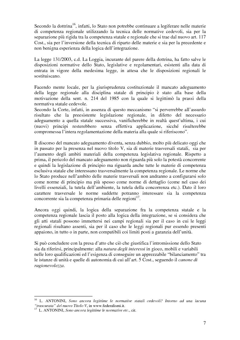 Anteprima della tesi: Delega alla ''mera ricognizione'' dei principi fondamentali, Pagina 7