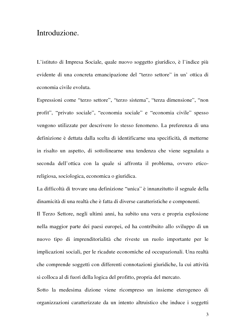 Anteprima della tesi: Impresa sociale: rendicontazione e bilancio sociale. Il caso delle aziende scolastiche, Pagina 1
