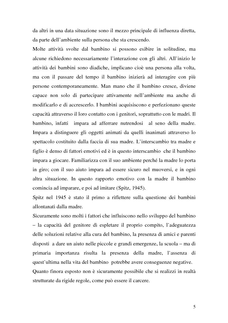 Anteprima della tesi: Complessità della funzione genitoriale in contesti a rischio: la maternità in carcere, Pagina 3