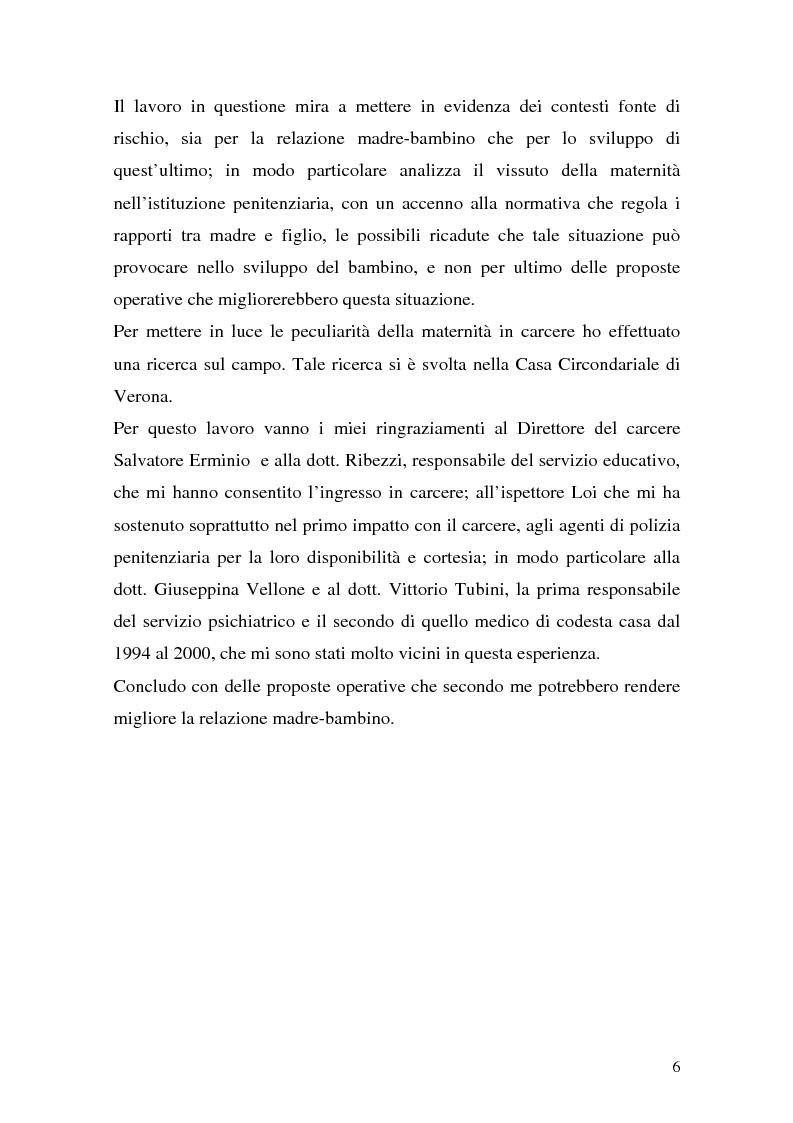Anteprima della tesi: Complessità della funzione genitoriale in contesti a rischio: la maternità in carcere, Pagina 4