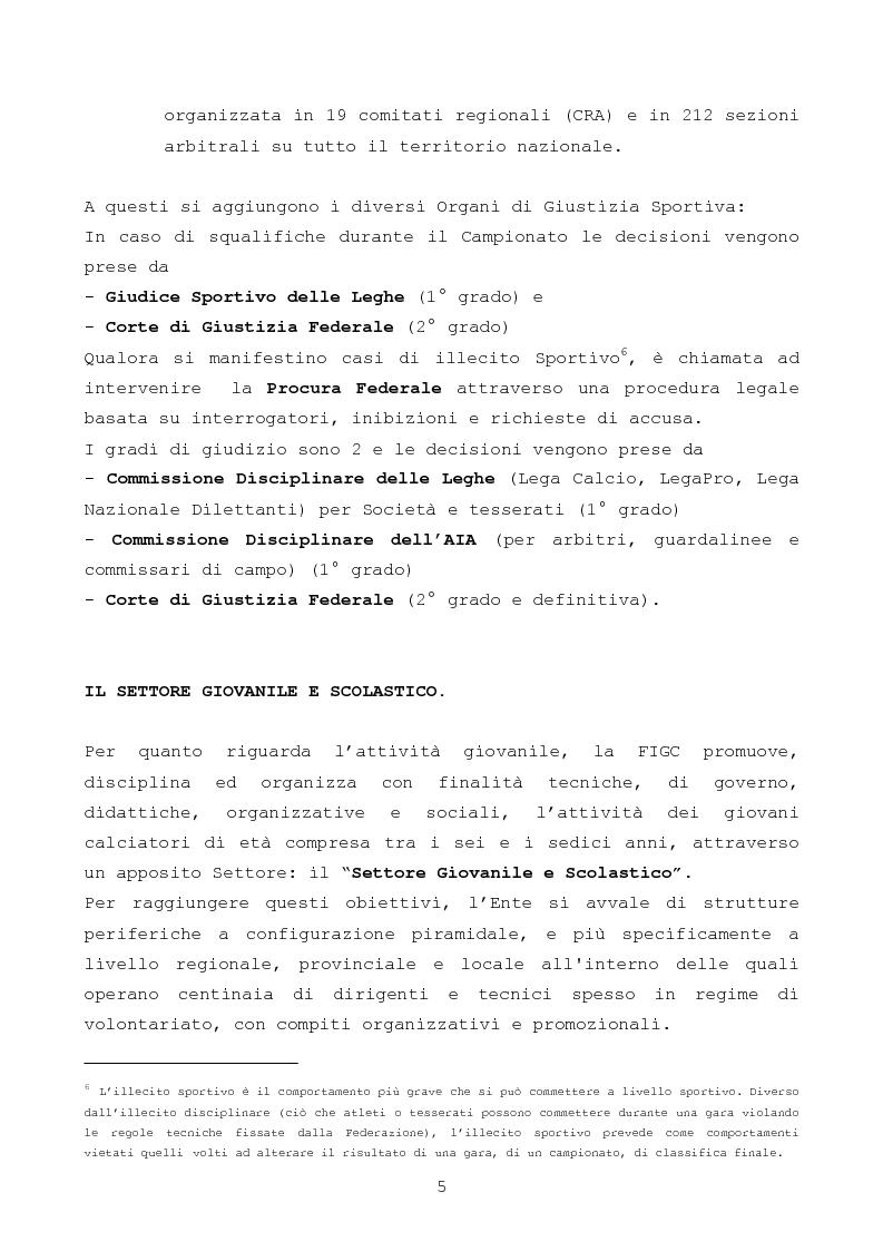 Anteprima della tesi: Il gioco del calcio: investire nel settore giovanile, il valore aggiunto per il club, Pagina 5