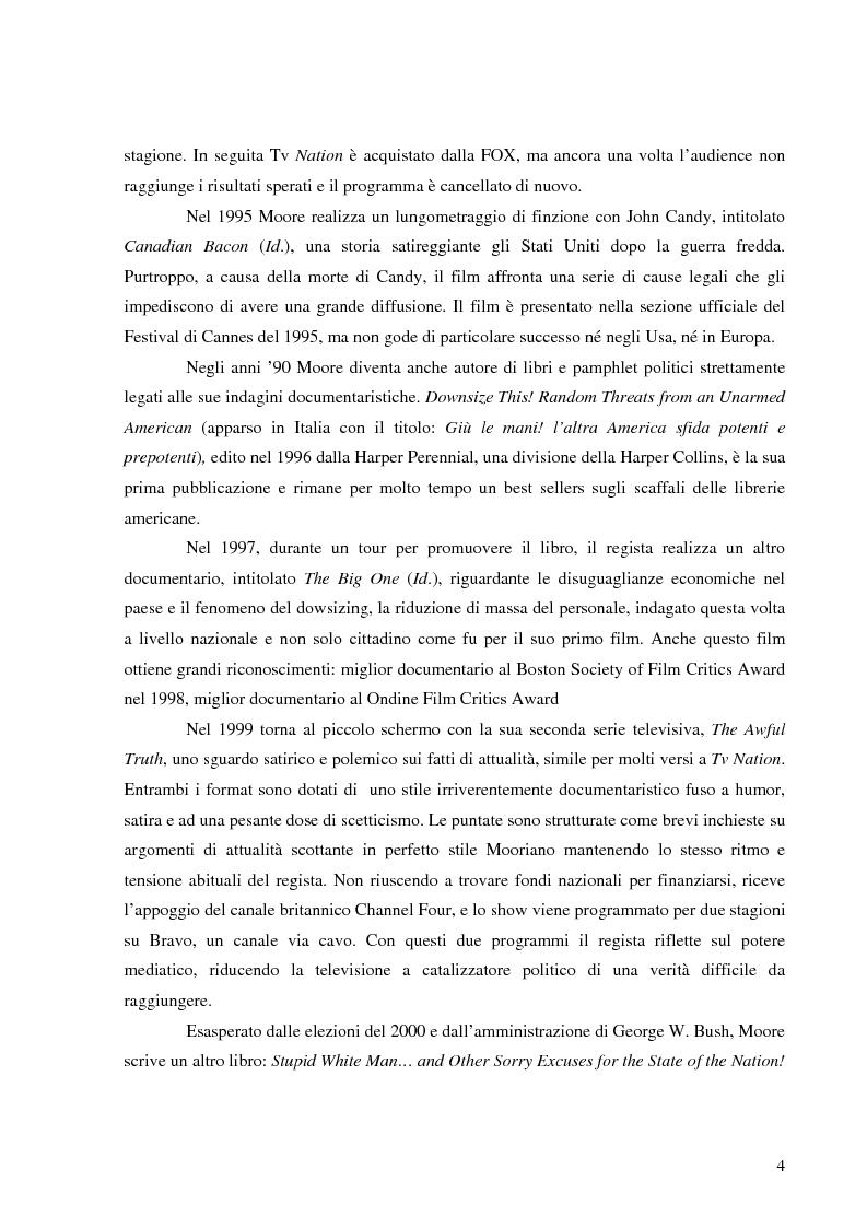 Anteprima della tesi: Michael Moore. Tra spettacolo e realtà, Pagina 3