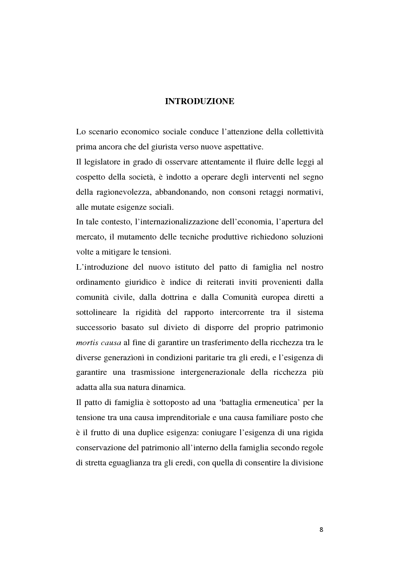Anteprima della tesi: Il patto di famiglia, Pagina 1