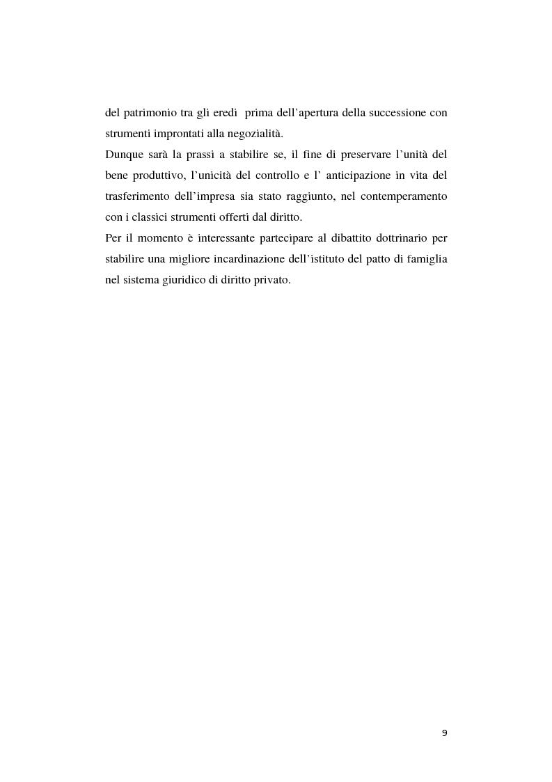 Anteprima della tesi: Il patto di famiglia, Pagina 2