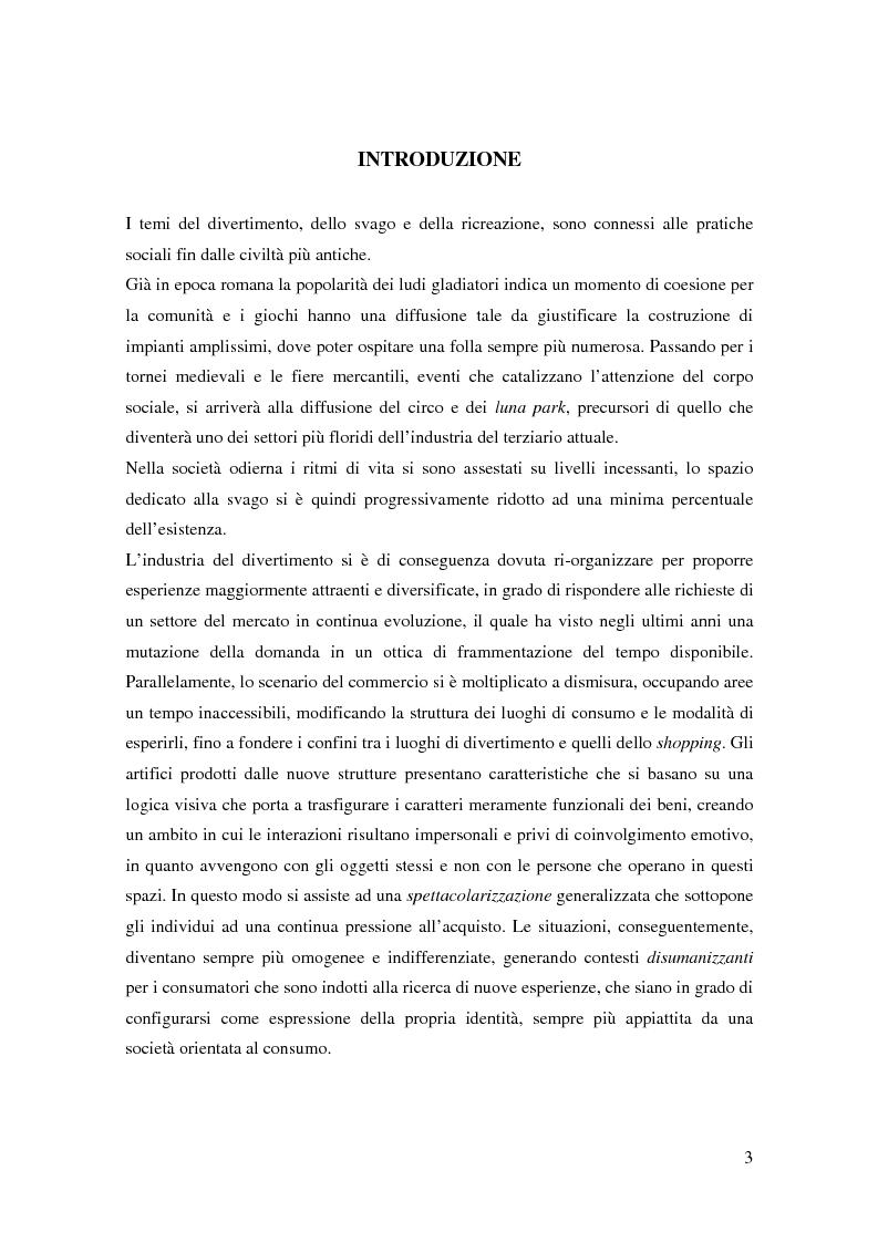 Anteprima della tesi: Parchi tematici: tempo libero, divertimento, consumo, Pagina 1