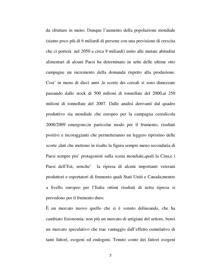 Anteprima della tesi: La filiera del frumento in Italia: i principali aspetti economici, Pagina 2