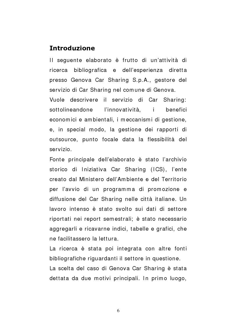 Anteprima della tesi: Il car sharing in Italia. Il caso di Genova Car Sharing, Pagina 3
