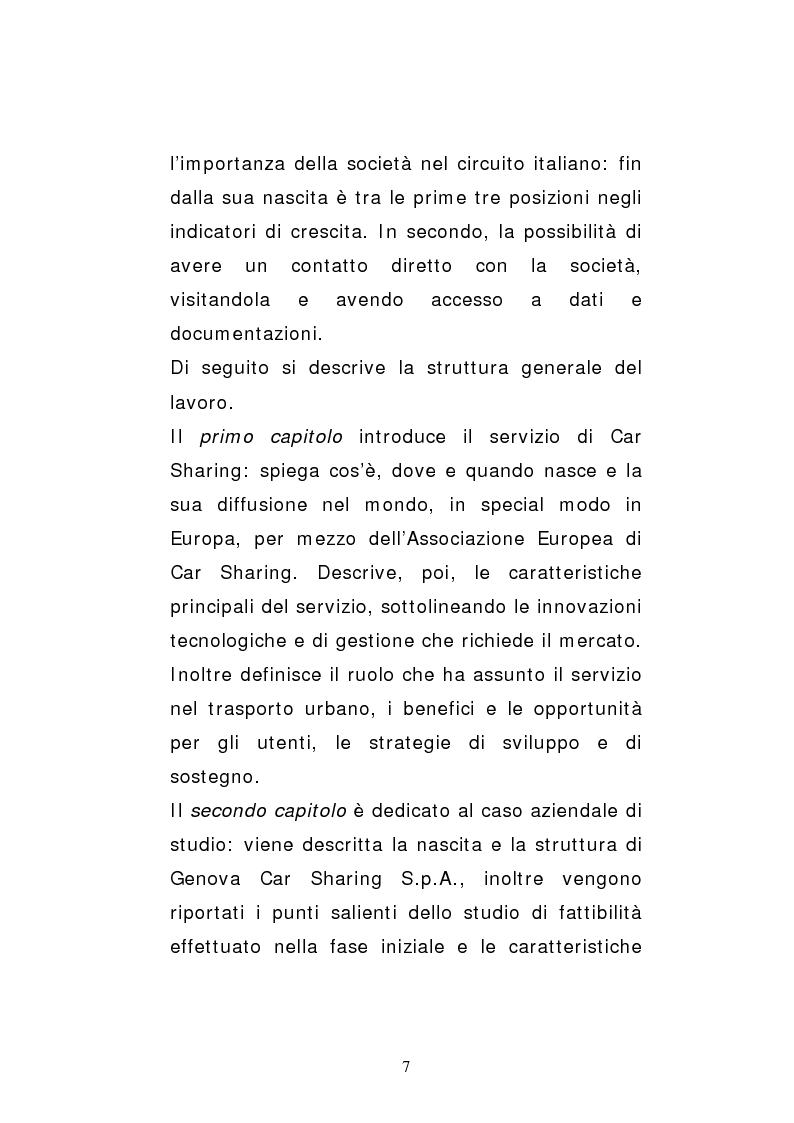 Anteprima della tesi: Il car sharing in Italia. Il caso di Genova Car Sharing, Pagina 4
