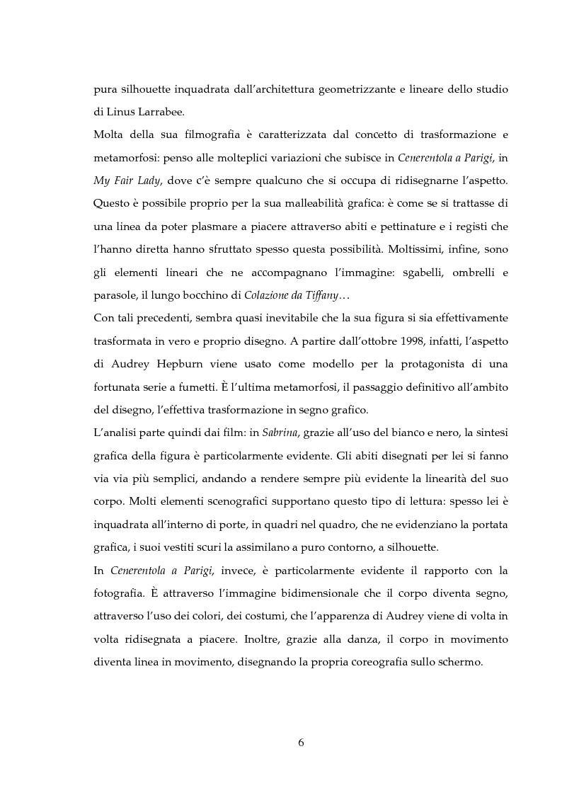 Anteprima della tesi: Audrey Hepburn: segno grafico, dallo schermo alla pagina di carta, Pagina 2