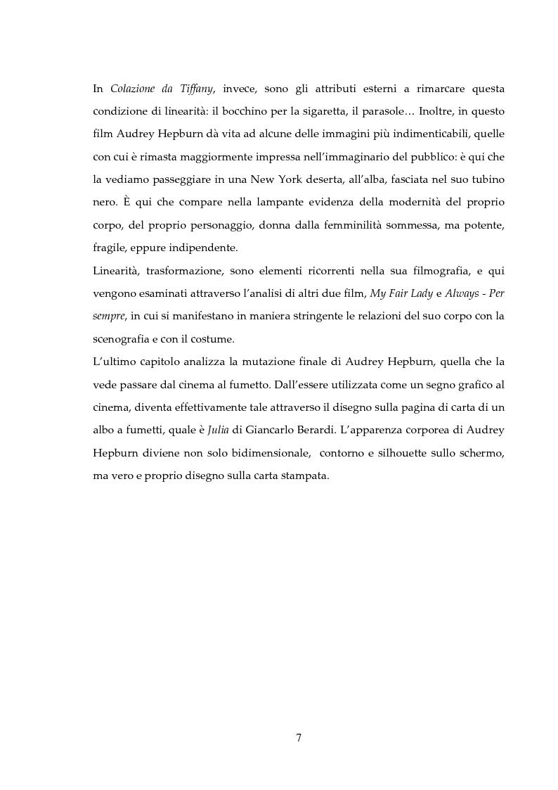Anteprima della tesi: Audrey Hepburn: segno grafico, dallo schermo alla pagina di carta, Pagina 3