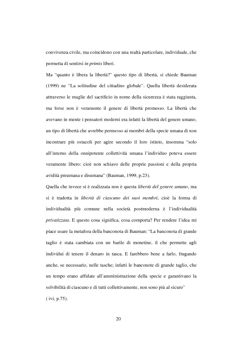 Anteprima della tesi: Postmodernità: adolescenza e nuove forme psicopatologiche - Riflessioni sul carattere sovversivo della psicoanalisi, Pagina 10