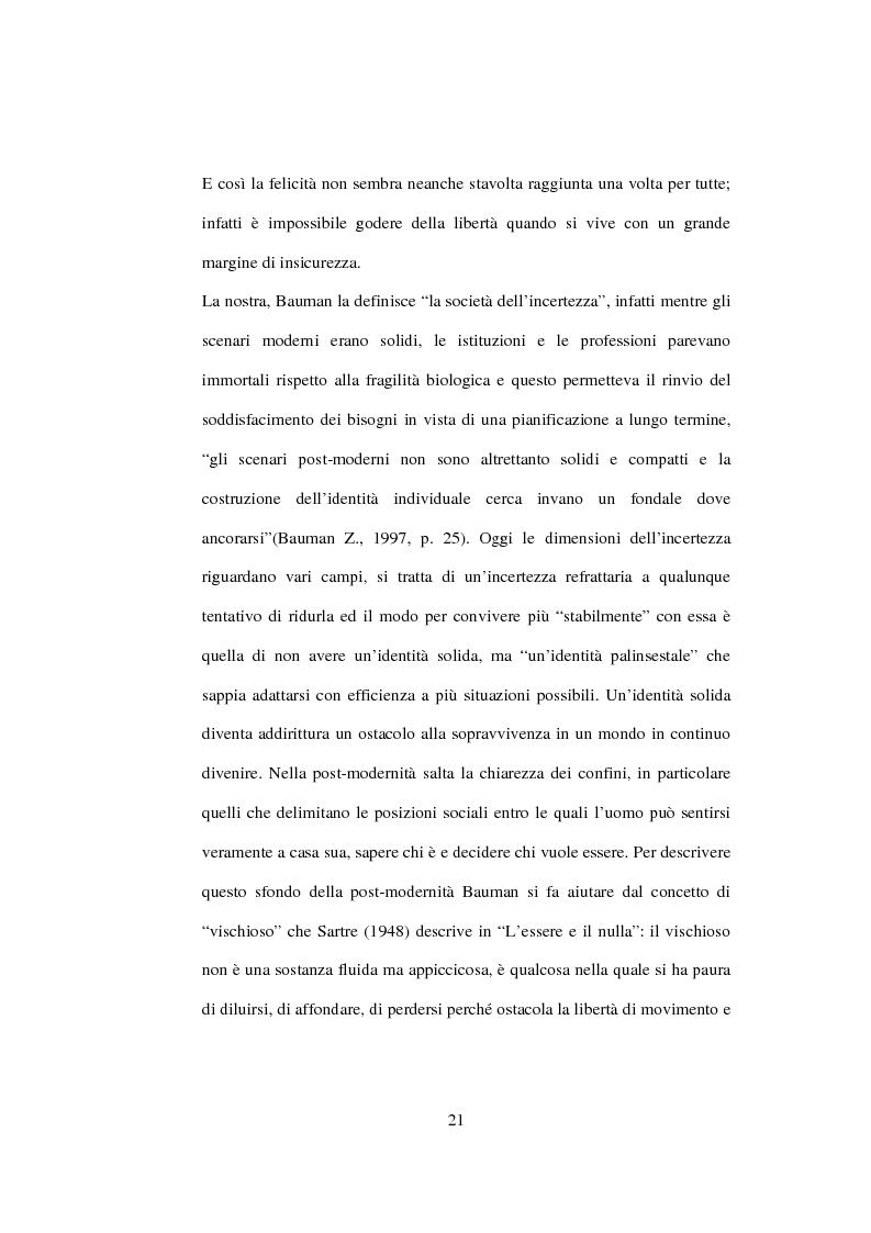 Anteprima della tesi: Postmodernità: adolescenza e nuove forme psicopatologiche - Riflessioni sul carattere sovversivo della psicoanalisi, Pagina 11